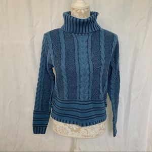 RVCA // NWT Teal Blue Mix Up Turtleneck Sweater S
